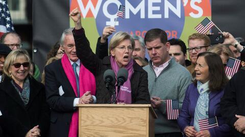 """La senadora Warren promete luchar """"más duro que nunca"""" contra Trump"""