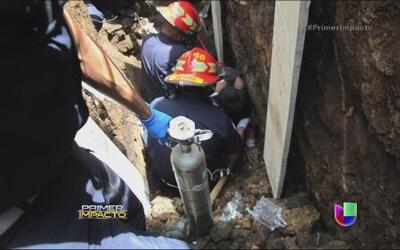 Dos albañiles quedaron sepultados vivos pero solo rescataron a uno