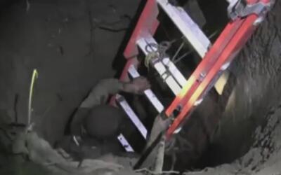 Sus gritos desesperados lo salvaron de morir en el fondo de un pozo en G...