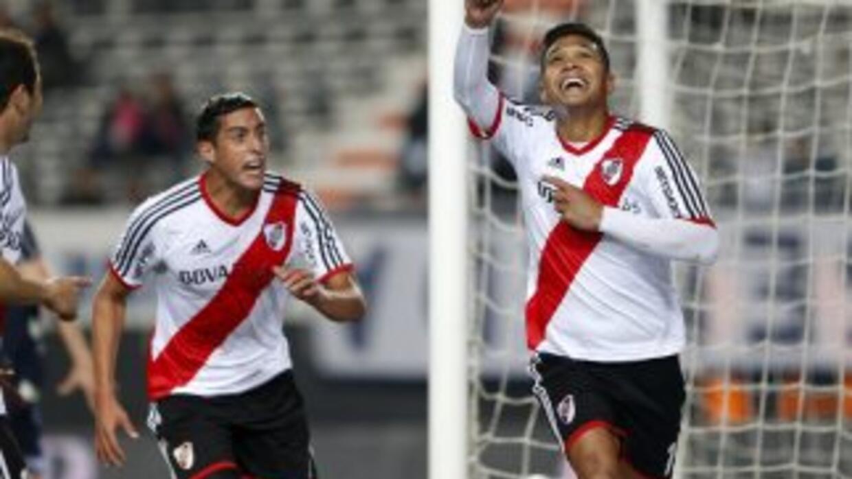 Teo Gutérrez anotó el gol de River Plate que empató 1-1 con Gimnasia.