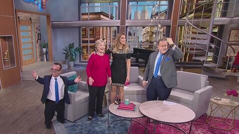 Así fue la visita de Hillary Clinton a Univision