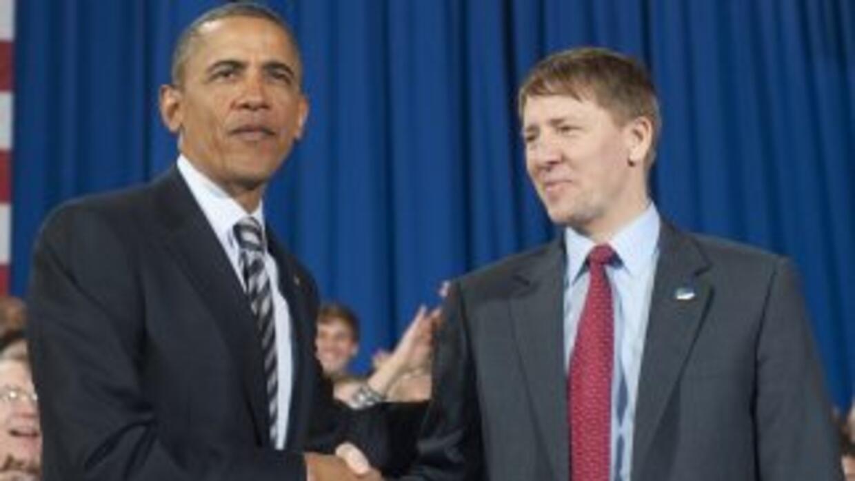 Richard Cordray acompaña al presidente en su visita a Ohio, constató un...