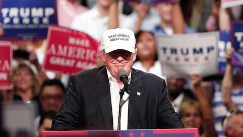 El candidato presidencial del Partido Republicano Donald Trump.
