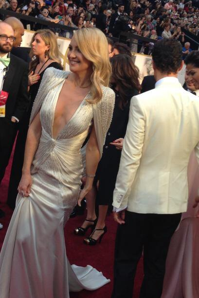 La actriz se veía espectacular con este vestido.