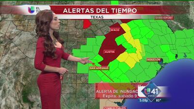 Alertas de clima severo en el área de SA