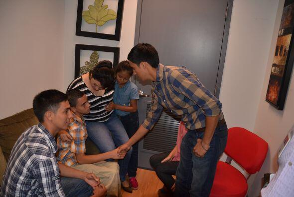 La familia hondureña que logró reunirse en el programa, si...