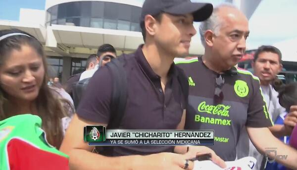 'Chicharito' ya se incorporó a la selección mexicana