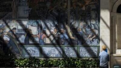 Un fresco de Diego Rivera en el Detroit Institute of Arts.