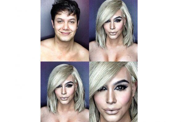 Así se transformó en Kim Kardashian.