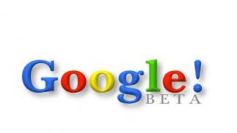 El primer logo de Google, cuando aún era verisón Beta.