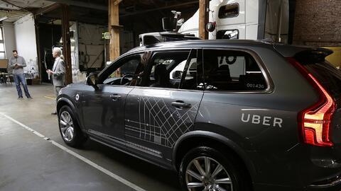 Uno de los vehículos autónomos usados por Uber en sus prue...
