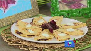 Aprenda a preparar una deliciosa quesadilla de flor de Jamaica
