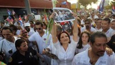 Apoyo en Miami a las Damas de Blanco, encabezado por Gloria y Emilio Est...