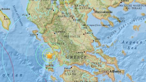 El epicentro del sismo se ubicó a una profundidad de 11.1 kil&oac...
