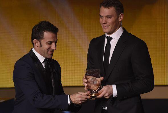 El alemán Manuel Neuer fue elegido como el mejor portero, lo cu&a...