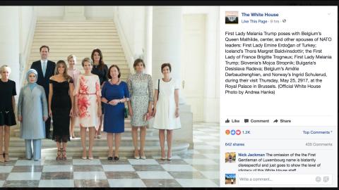 La foto oficial en la página de Facebook de la Casa Blanca.