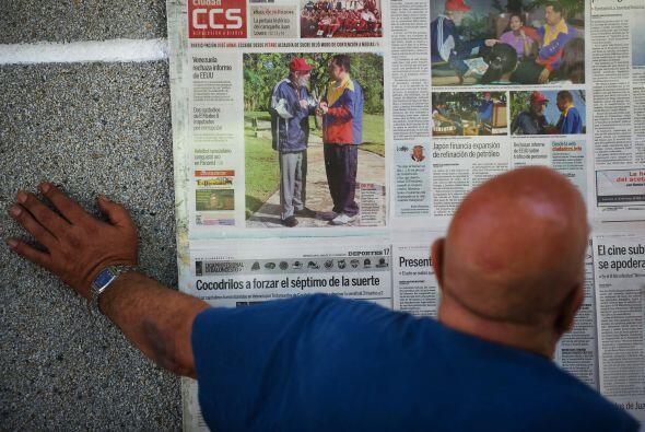 8 de junio 2011 Raúl y Fidel Castro recibieron a Hugo Cháv...
