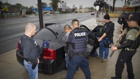 Una de las 161 detenciones que realizó ICE en el sur de Californi...