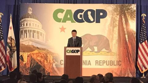 El congresista Devin Nunes da un discurso durante la Convención 2...