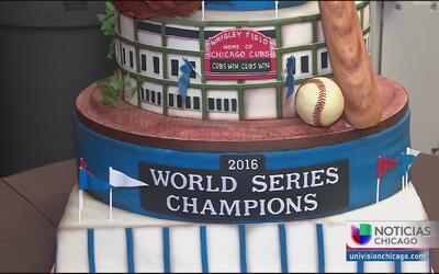 Una escuela honra el triunfo de los Cubs con un pastel espectacular