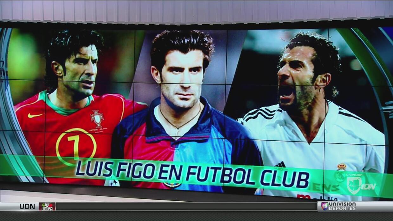 Luis Figo, invitado de lujo en Fútbol Club habló del campeonato de Portugal