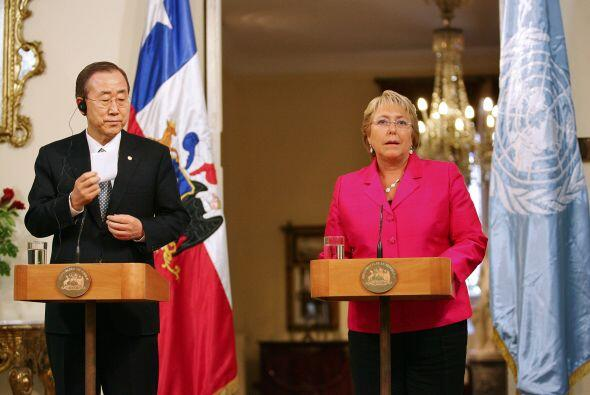 El secretario general de la ONU, Ban Ki-moon, destacó que la ex-presiden...