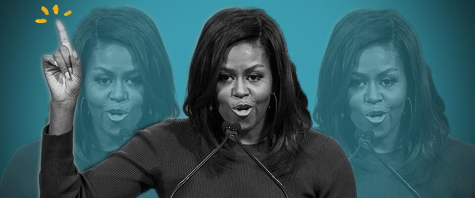 Michelle Obama sabe jugar el póquer de la política, pero esto parecía sa...