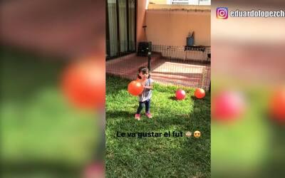 Así juega la verdadera 'Chofis', la hijita de Javier Eduardo López