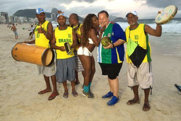 Después se fueron a la playa, para practicar más deporte.