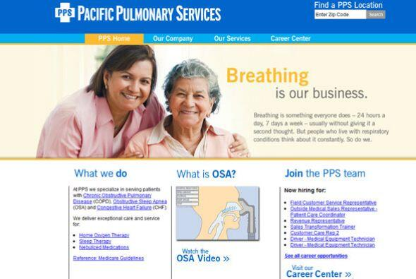 12. PACIFIC PULMONARY SERVICES   Sector de la industria: Servicios respi...