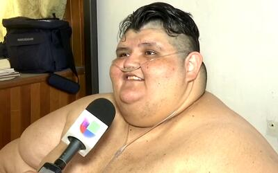 Juan Pedro Franco, uno de los jóvenes más obesos del mundo, ha logrado b...