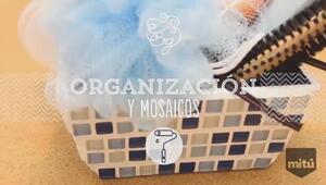 Cómo crear un organizador de baño con mosaicos