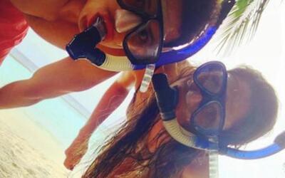 Chicharito y Lucía Villalón, en sus últimas vacaciones juntos (c) Instagram