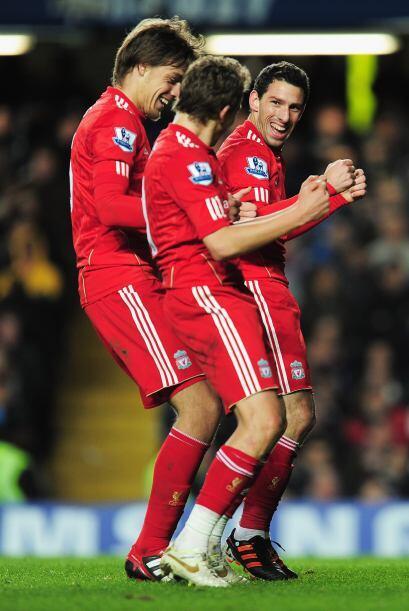 Aquí el festivo festejo de los futbolistas del Liverpool.
