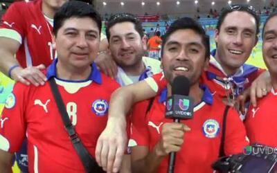 Euforia con mucho Chile desde Brasil