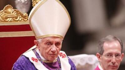 El Papa Benedicto XVI durante una ceremonia celebrada el vienes en la Ba...