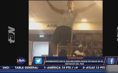 Marquinhos saca sus mejores pasos de baile en el vestidor del PSG