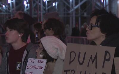 Vuelven las protestas en Manhattan contra las propuestas de Donald Trump