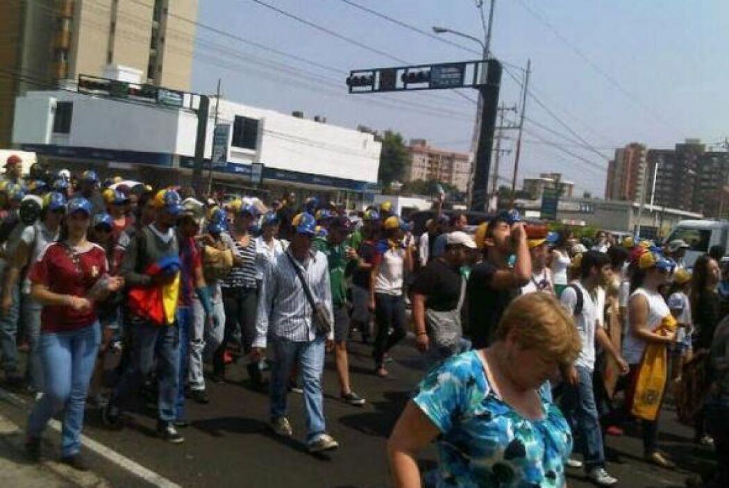 En Maracaibo también se llevan a cabo manifestaciones contra el gobierno...