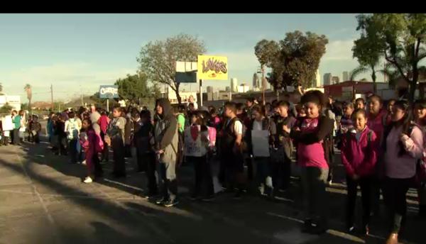 La manifestación fue en las primeras horas de este miércoles.