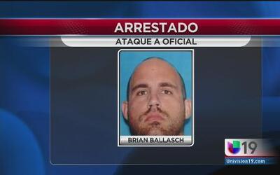 Arrestado por disparar a oficial en el rostro
