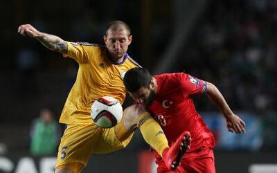 El '10' del Atlético de Madrid anotó el gol de la victoria ante Kazajistán