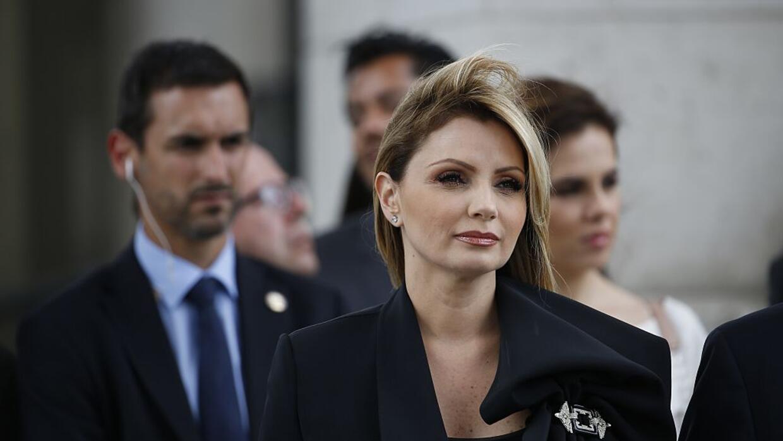 La primera dama Angélica Rivera en una ceremonia por el Día de la Bastil...