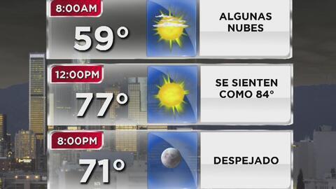Cielo despejado y altas temperaturas para este jueves en Los Ángeles