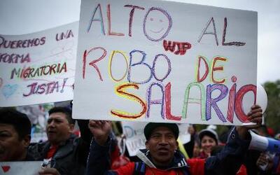 Manifestantes en EEUU por el día del trabajo