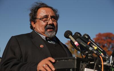 El congresista Raúl Grijalva en un evento donde abogó por...