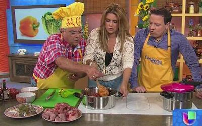 Alicia Machado y Chef Pepín prepararon la receta de Rabo Encendido