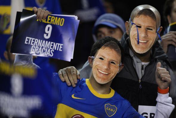 La afición de Boca Juniors llenó el estadio para el duelo ante Banfield...