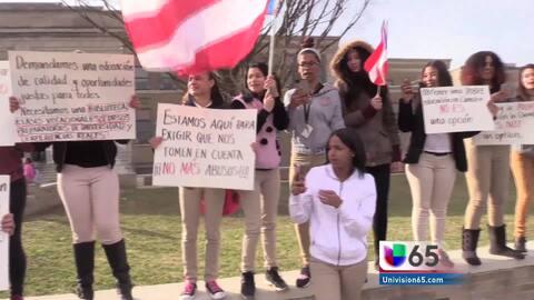 Estudiantes de Woodrow Wilson protestan por la falta de recursos