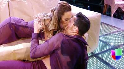 María Elisa Camargo le dio un súper beso a su bailarín en Mira Quién Baila